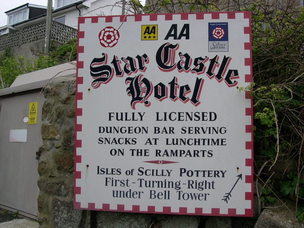 scilly star castle hotel