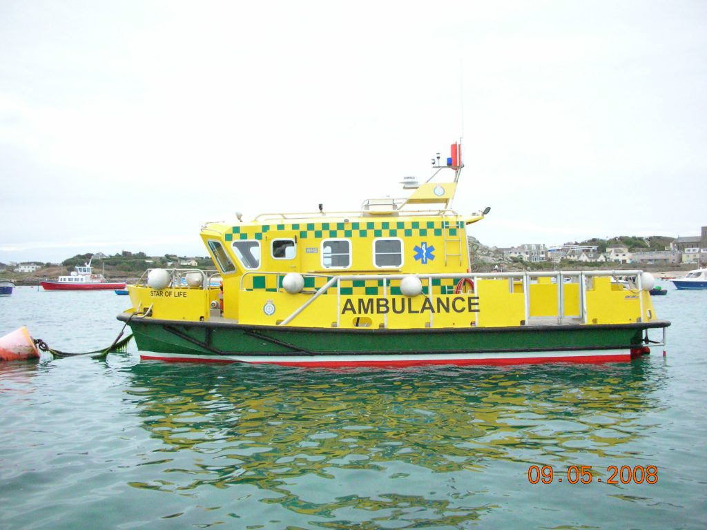 scilly bateau ambulance